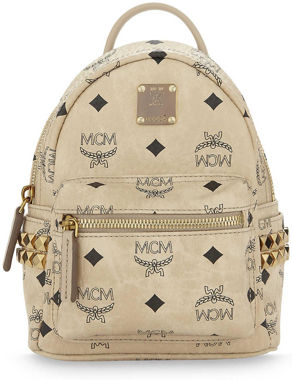 23c669d740029 MCM - Stark stud detail extra-mini backpack | Selfridges.com