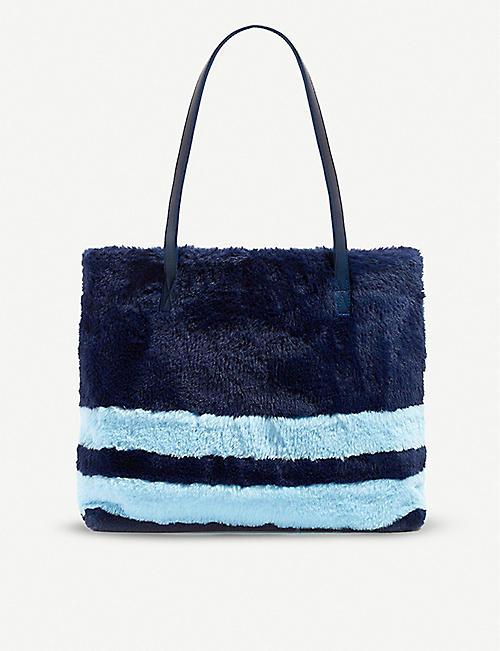 e1948132f SKINNYDIP Tavi faux-fur shoulder bag. iridescent Skinnydip Cosmo Makeup Bag