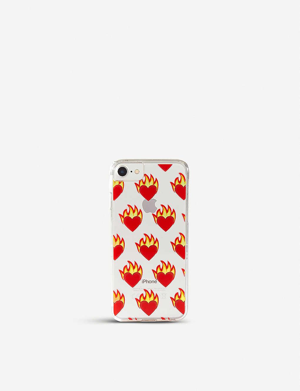 hot sale online 91f1d 8adc8 SKINNYDIP - Flame Heart iPhone 6/7 plus case | Selfridges.com