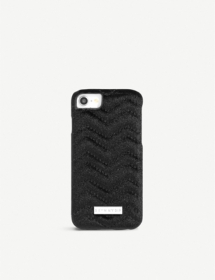 SKINNYDIP Chevron glittered velvet phone case