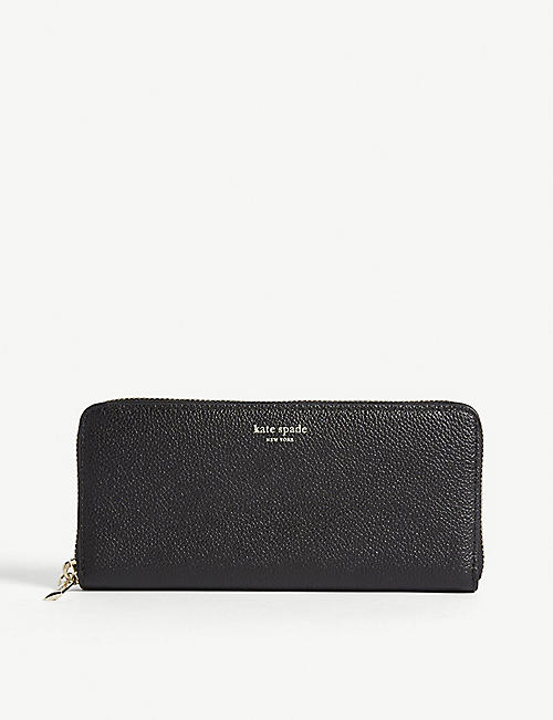 0b6762b93fa4 KATE SPADE NEW YORK Margaux Lindsey grained leather wallet
