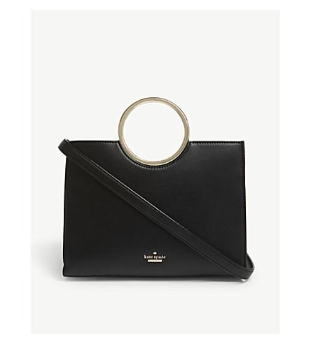 dd6003da4ab1 ... KATE SPADE NEW YORK White rock road sam leather shoulder bag (Black.  PreviousNext