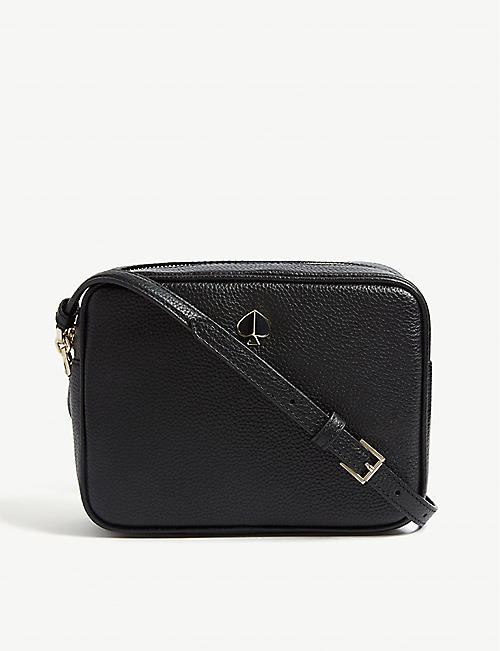 KATE SPADE NEW YORK Polly medium leather camera cross body bag