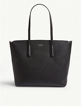 KATE SPADE NEW YORK: Margaux grained leather tote bag