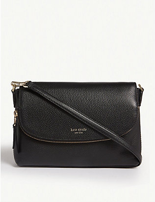 KATE SPADE NEW YORK: Polly leather cross-body bag