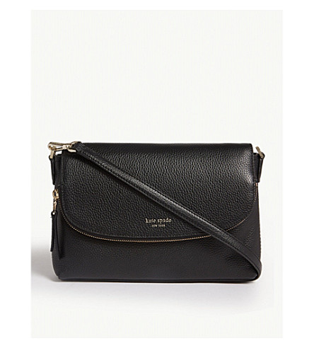 7f47c825c5fe KATE SPADE NEW YORK Polly large convertible leather cross body bag (Black