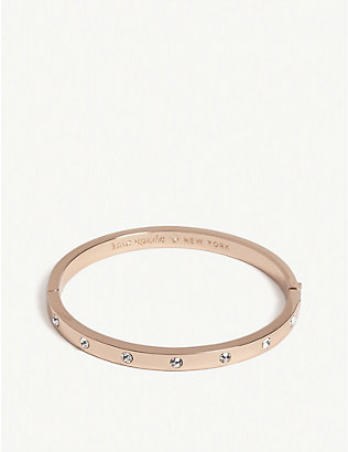 KATE SPADE NEW YORK: Set In Stone hinged bangle