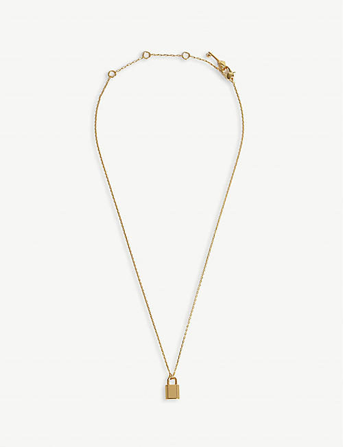 KATE SPADE NEW YORK Padlock necklace