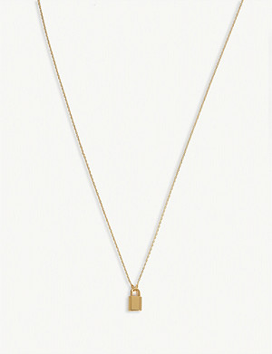 KATE SPADE NEW YORK Padlock gold-plated necklace