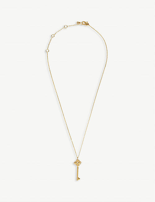 KATE SPADE NEW YORK Key gold-plated necklace