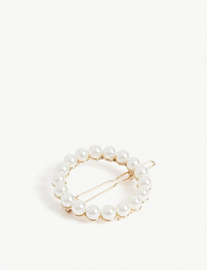 SHRIMPS Albia pearl hairclip