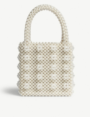 SHRIMPS Antonia beaded bag