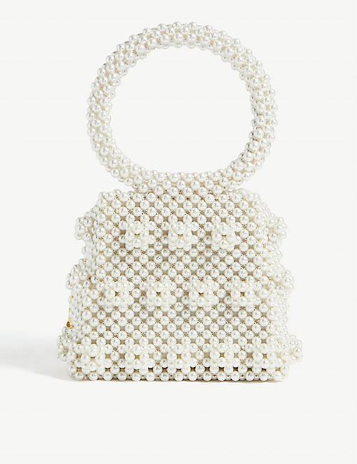 SHRIMPS Dante pearlbead box bag