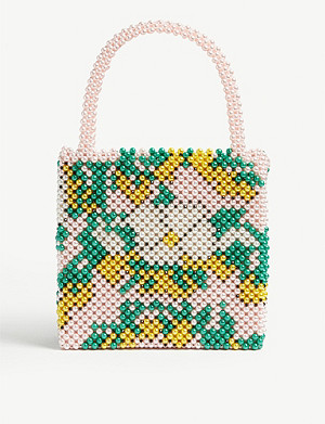 SHRIMPS Beaded Flora tote