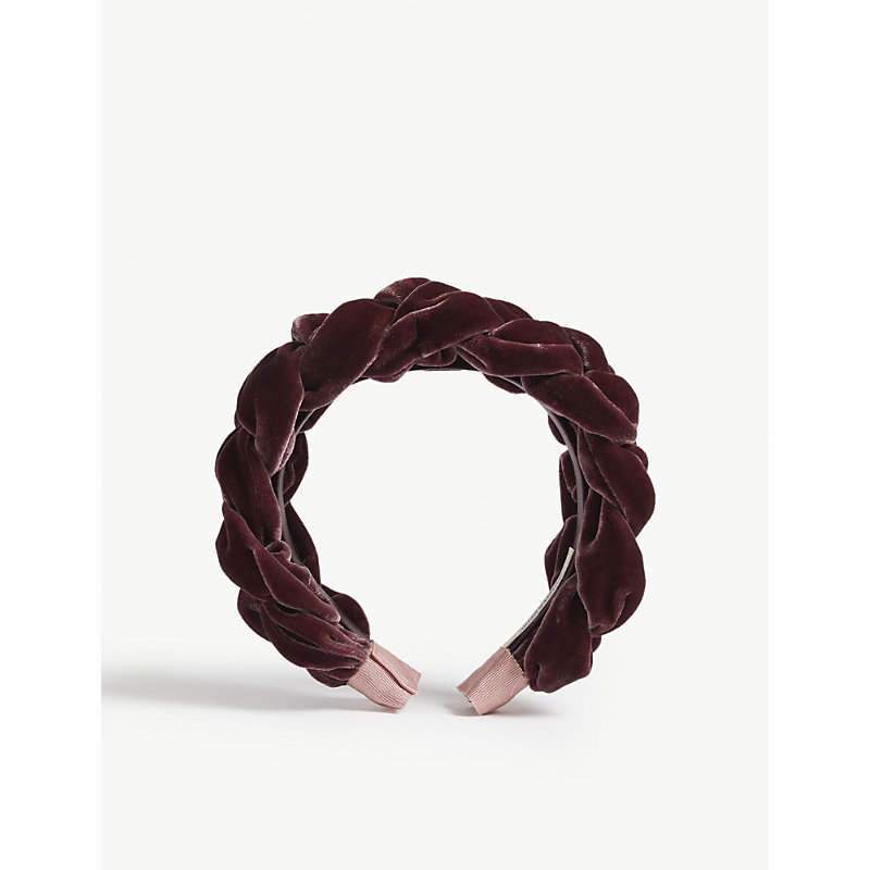Jennifer Behr Lorelei Velvet Headband In Dusted Violet  6916db70b49
