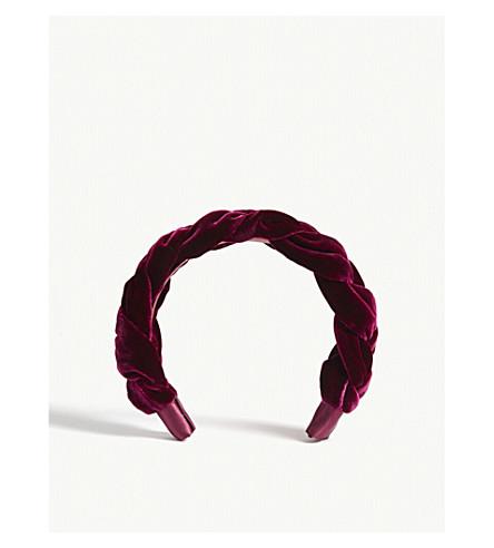 ... JENNIFER BEHR Lorelei velvet headband (Mulberry. PreviousNext 6bb69ba23c4