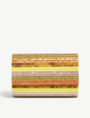 KURT GEIGER LONDON Party envelope rainbow clutch bag