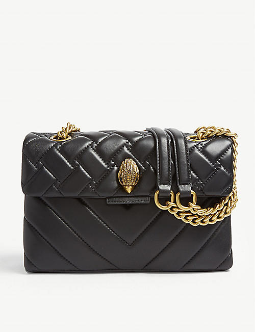 KURT GEIGER LONDON Kensington leather shoulder bag