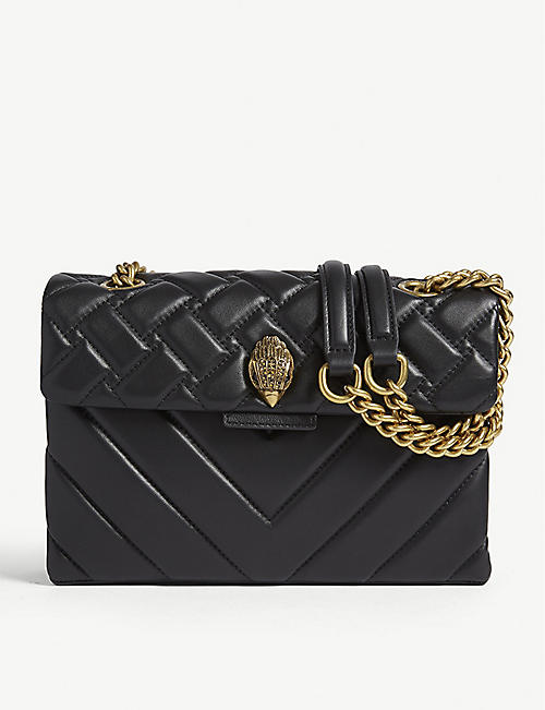 KURT GEIGER LONDON Kensington X leather shoulder bag