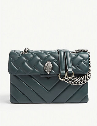 KURT GEIGER LONDON: Kensington leather shoulder bag