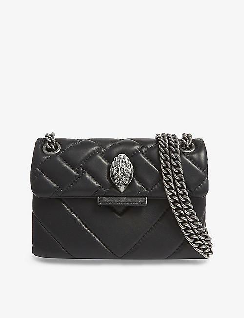 bdba507e4d6b KURT GEIGER LONDON Mini Kensington leather shoulder bag