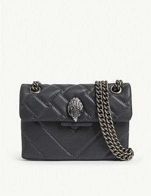 KURT GEIGER LONDON Mini Kensington leather shoulder bag