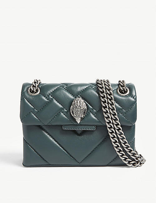 KURT GEIGER LONDON: Kensington mini leather shoulder bag