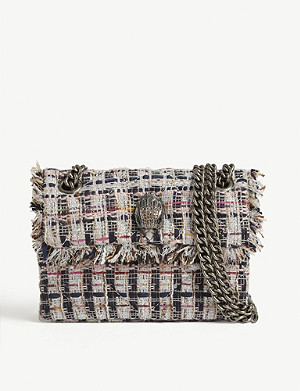 KURT GEIGER LONDON Mini Kensington tweed shoulder bag