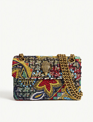 KURT GEIGER LONDON Kensington mini tweed cross-body bag