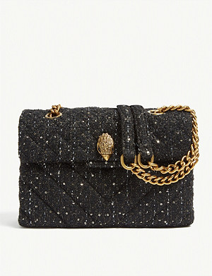 KURT GEIGER LONDON Kensington tweed shoulder bag