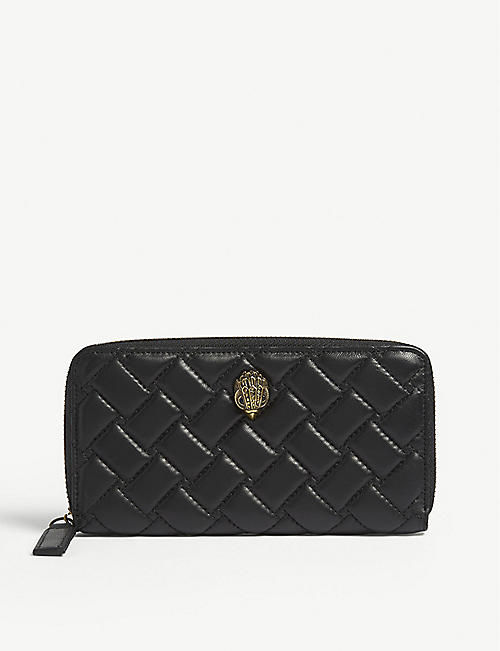 KURT GEIGER LONDON: Leather zip-around wallet