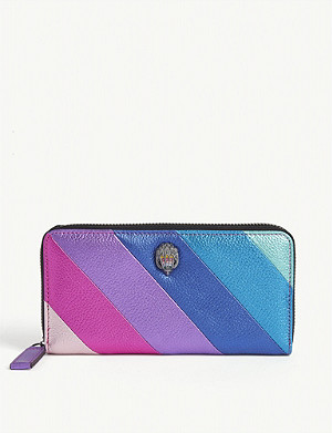 KURT GEIGER LONDON Metallic stripe wallet