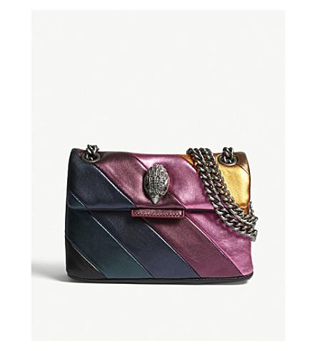 54a13b9624 KURT GEIGER LONDON Mini Kensington rainbow leather shoulder bag (Mult other