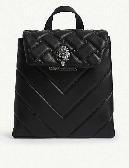 KURT GEIGER LONDON Kensington leather small backpack