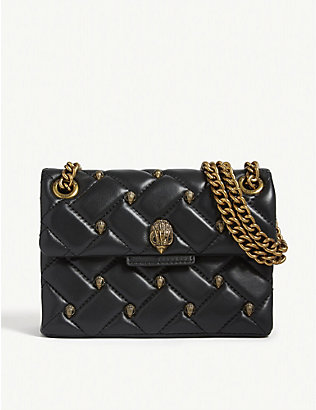 KURT GEIGER LONDON: Mini studded Kensington shoulder bag