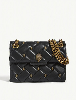 KURT GEIGER LONDON Mini studded Kensington shoulder bag