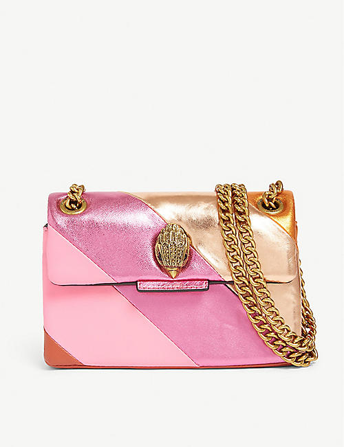 2ee2ed1cc3d7 KURT GEIGER LONDON Mini Kensington S leather shoulder bag