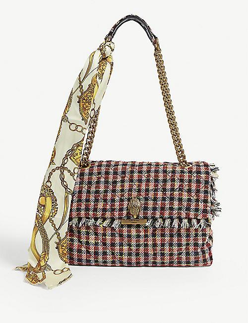 46f119c425 KURT GEIGER LONDON Large Kensington tweed shoulder bag