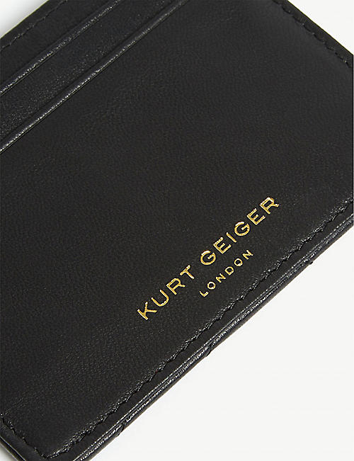 KURT GEIGER LONDON Quilted leather card holder