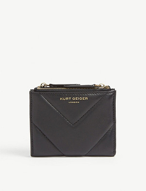 KURT GEIGER LONDON Quilted leather mini purse