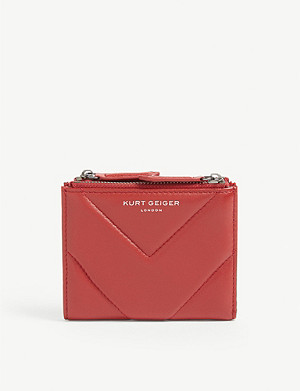 KURT GEIGER LONDON Quilted mini leather purse