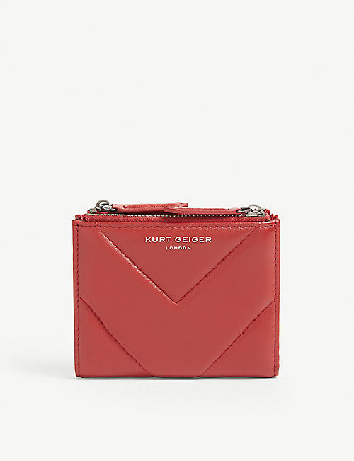 KURT GEIGER LONDON: Quilted mini leather purse