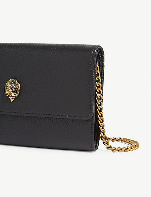 KURT GEIGER LONDON Kensington leather wallet-on-chain