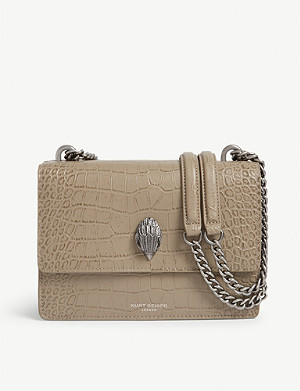 KURT GEIGER LONDON Shoreditch croc-embossed leather cross-body bag