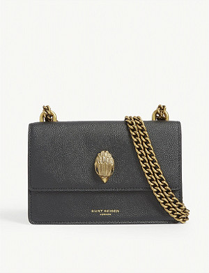 KURT GEIGER LONDON Shoreditch grained leather crossbody bag