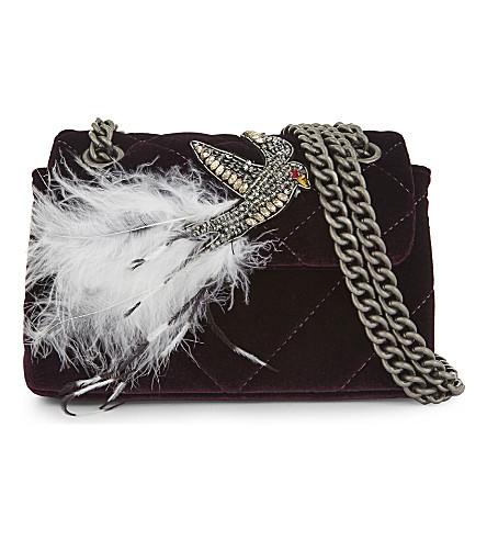 4a3708854de8 KURT GEIGER LONDON - Mini Kensington velvet cross-body bag ...