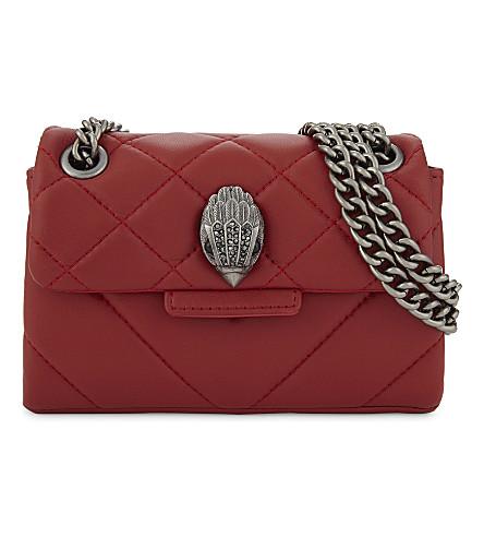 6e2a1c37db1b KURT GEIGER LONDON - Mini Kensington quilted leather cross-body bag ...