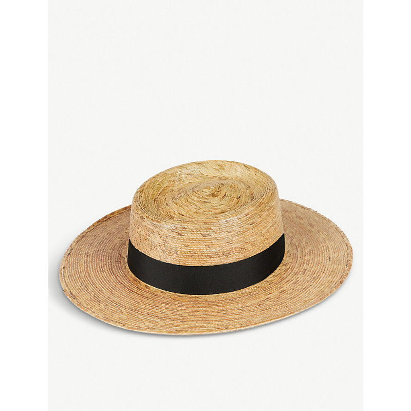 LACK OF COLOR Palma Boater Hat in Natural