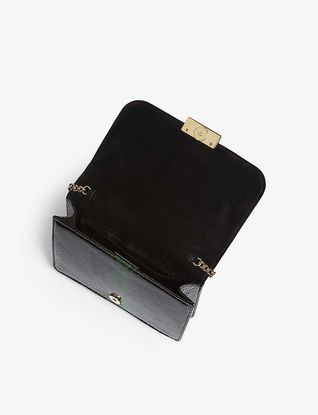 GEDEBE - Clicky python-skin handbag   Selfridges com