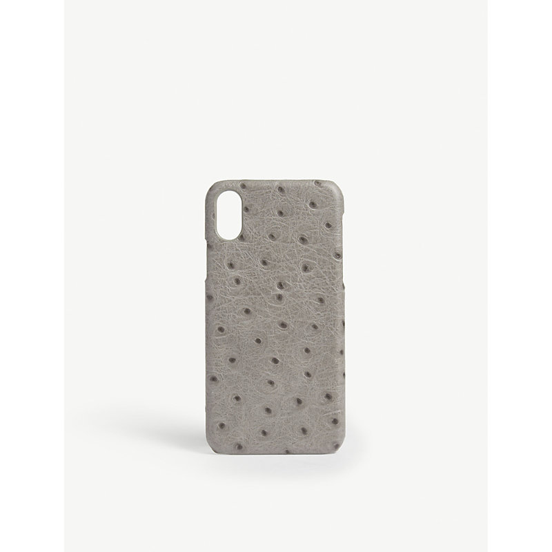 THE CASE FACTORY 鸵鸟-打印 电话 案件 Iphone X in Grey
